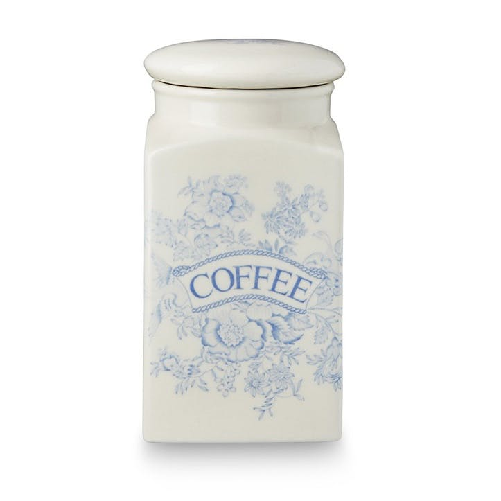 Asiatic Pheasants Square Coffee Storage Jar, 18cm, Blue