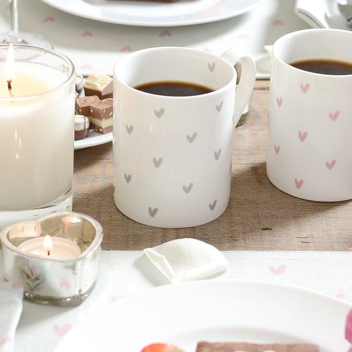 Pink 'Hearts' Mug - Standard