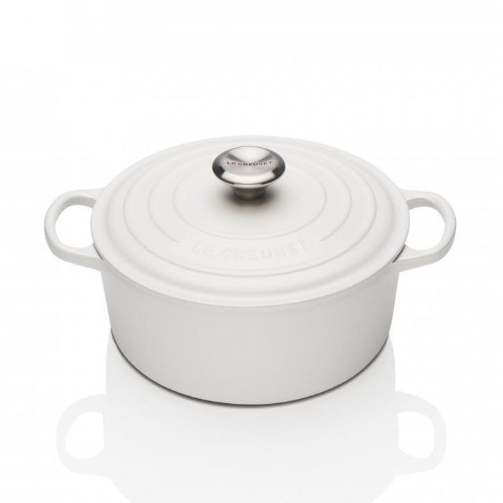 Cast Iron Round Casserole - 24cm; Cotton