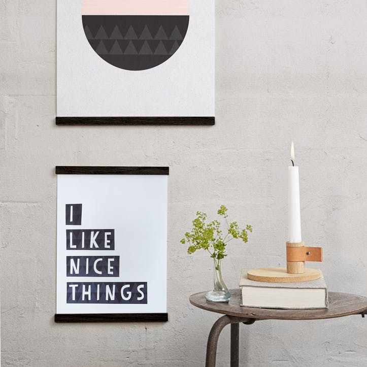 Wall Sticks Magnet Frame, A3, Black Oak