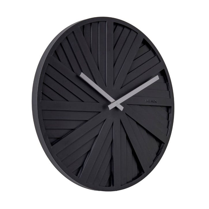 Slides Wall Clock, Black