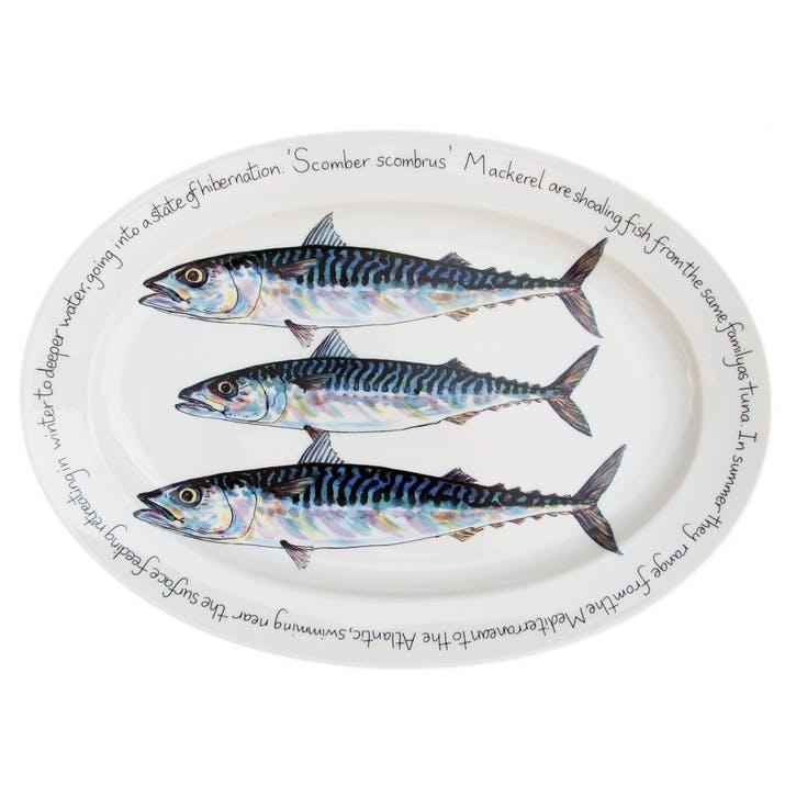 Mackerel Oval Plate - 39cm