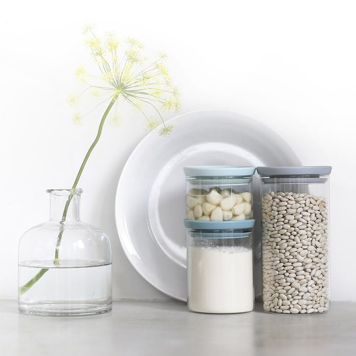 Stackable Glass Jar, Set of 3
