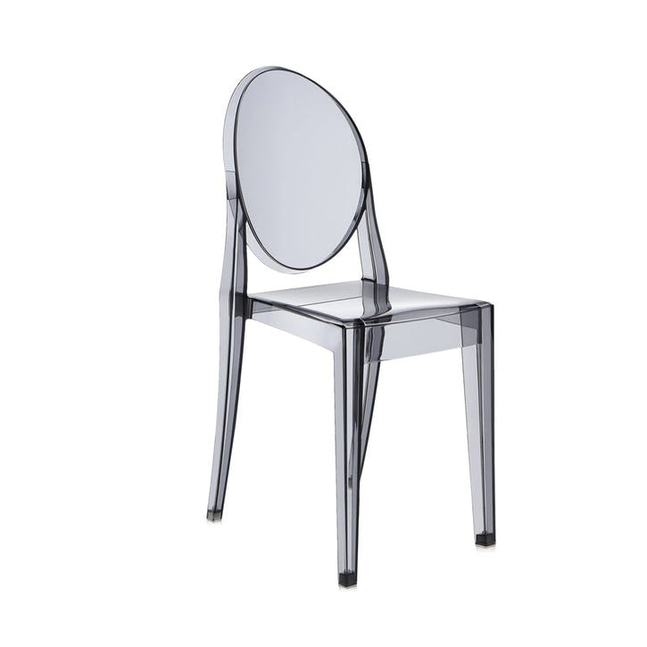 Victoria Ghost, Pair of Dining Chairs, Smoke