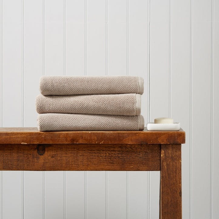 Brixton Hand Towel, Pebble