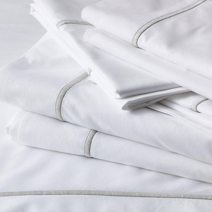 Savoy Flat Sheet, King, Silver