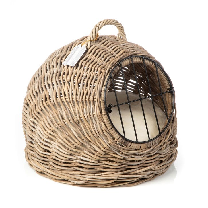 Rattan Cat Travel Basket