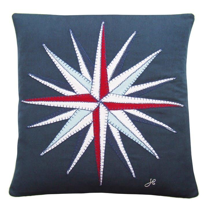 Seaside Compass Cushion