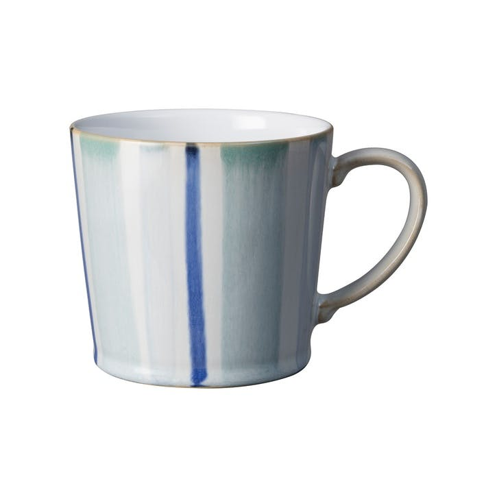 Handcrafted Blue Striped Mug, 400ml