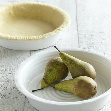 Round Pie Dish; White