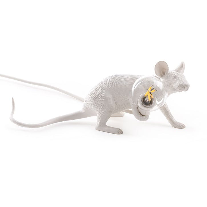 Mouse Lamp, Lying down White