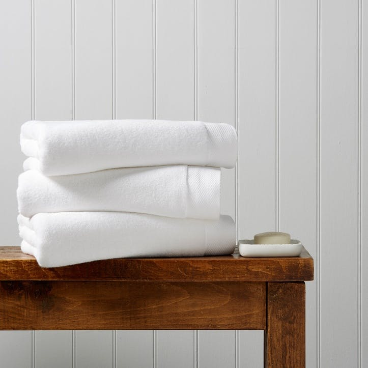 Luxe Hand Towel, White