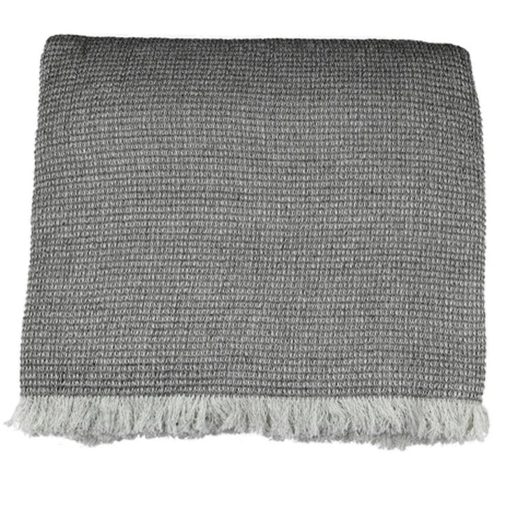 Chambray Waffle Throw, Charcoal