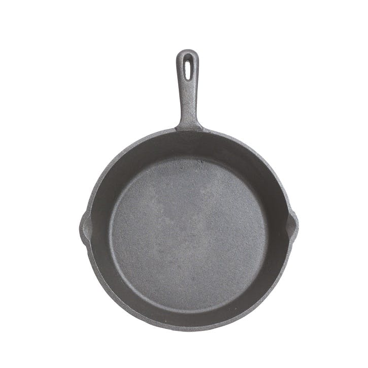 Cast Iron Round Plain Grill Pan, 24cm