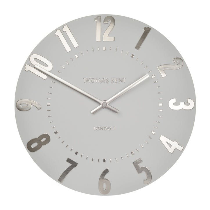 Mulberry Clock, 51cm, Silver Cloud