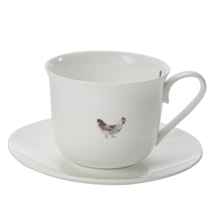 'Chicken' Tea Cup & Saucer - Small