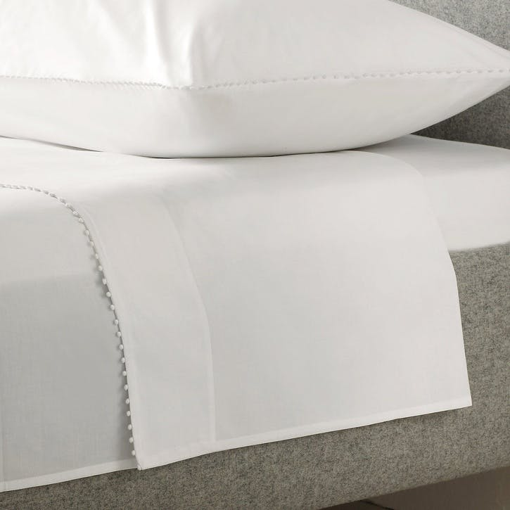 Avignon Flat Sheet, Double, White