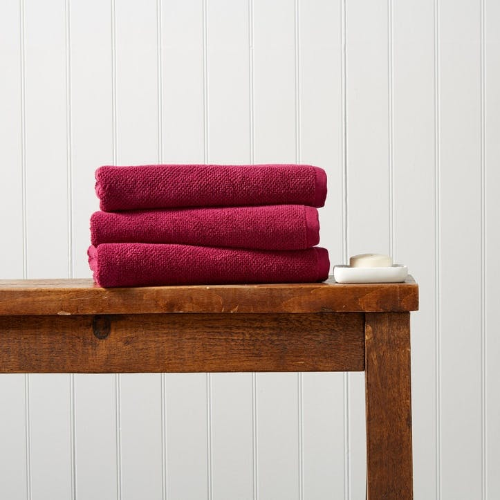 Brixton Bath Towel,  Magenta