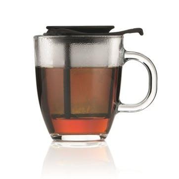 Yo-Yo, Mug And Tea Strainer, 35cl, Black