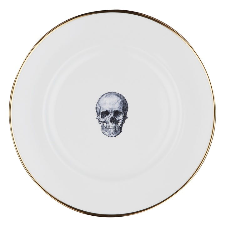 Rock and Roll Skull Dinner Plate