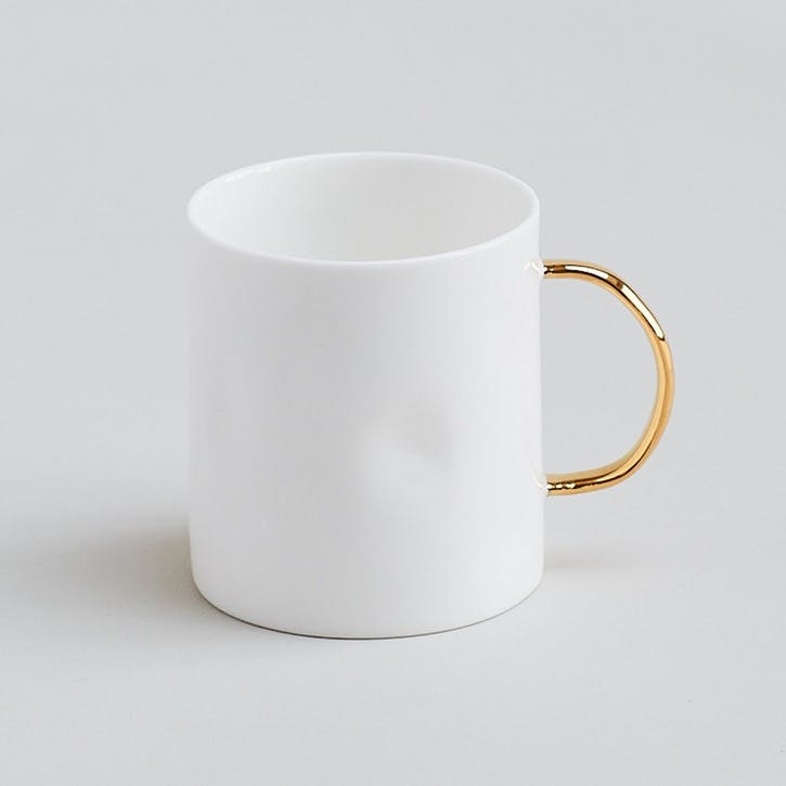 Gold Coffee Mug, 7oz