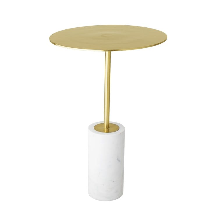 Paisley Gold & Marble Side Table