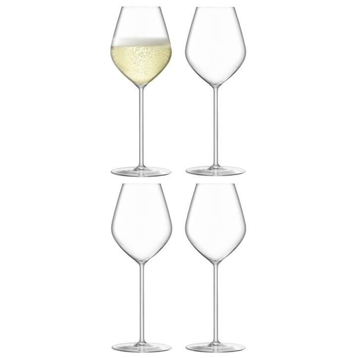 Borough Champagne Tulip Glass, Set of 4, 285ml