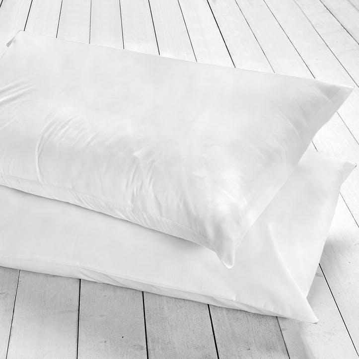 Pure Housewife Pillowcase, Set of 2, White