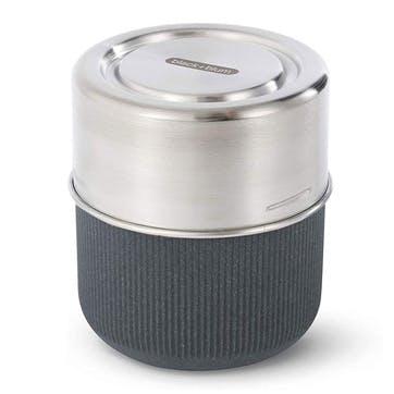 Glass Lunch Pot, 450ml, Slate
