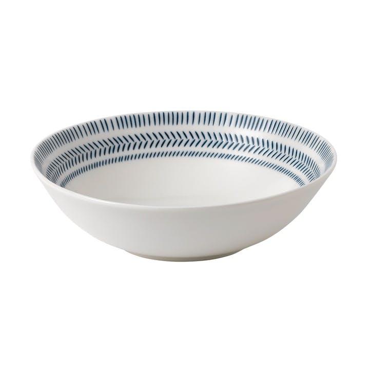 ED Ellen DeGeneres Pasta Bowl, Cobalt Blue Chevron