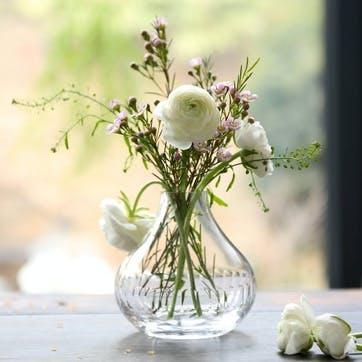 Lens Patterned Crystal Vase