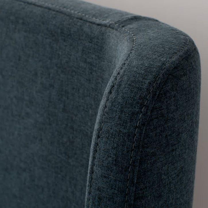 Roscoe Upholstered Bed - King; Agean Blue
