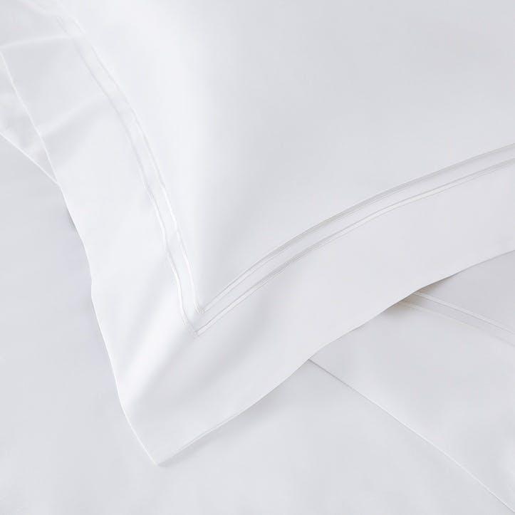 Symons Cord Flat Sheet, Double, White