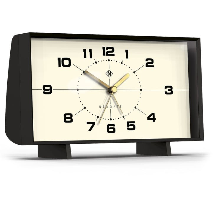 The Wideboy Alarm Clock, 20.5cm; Matte Black