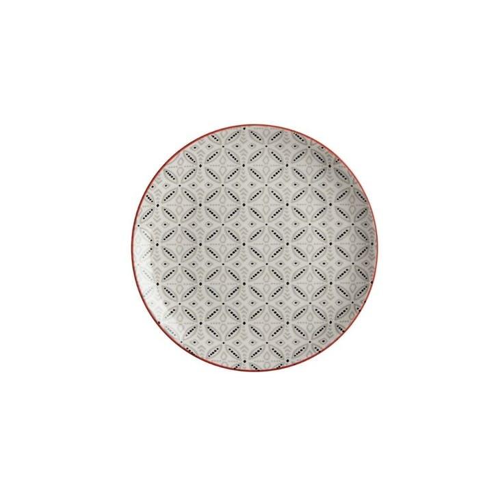 Boho Dinner Plate, Grey