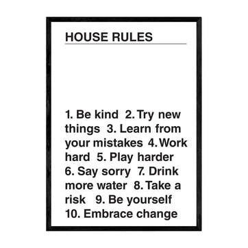 The Native State, House Rules Framed Art Print