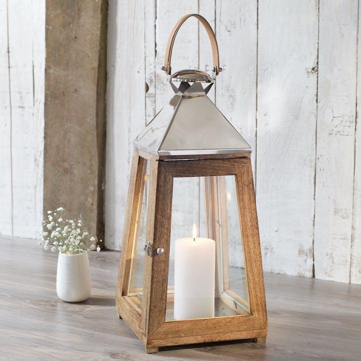 Sidmouth Mango Wood Candle Lantern