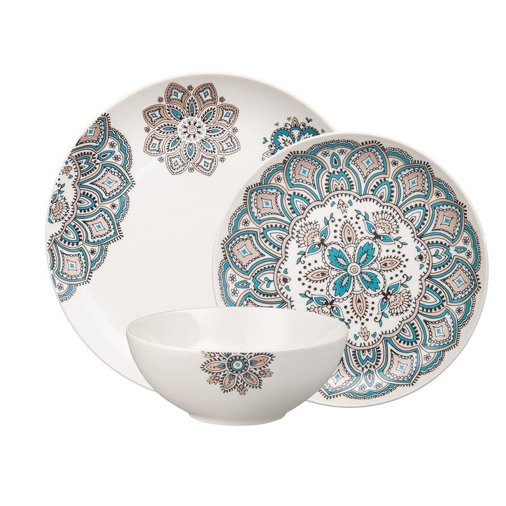 Mandala Tableware Set, 12pcs