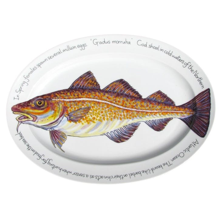 Cod Oval Plate - 39cm