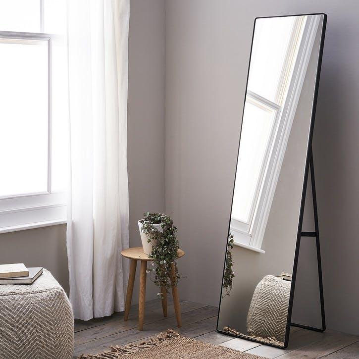 Chiltern Free Standing Floor Mirror, Black