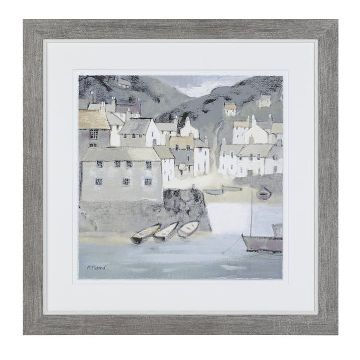 Bay Side Framed Print - 46 x 46cm