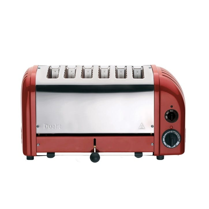 Classic Vario 6 Slot Toaster, Red