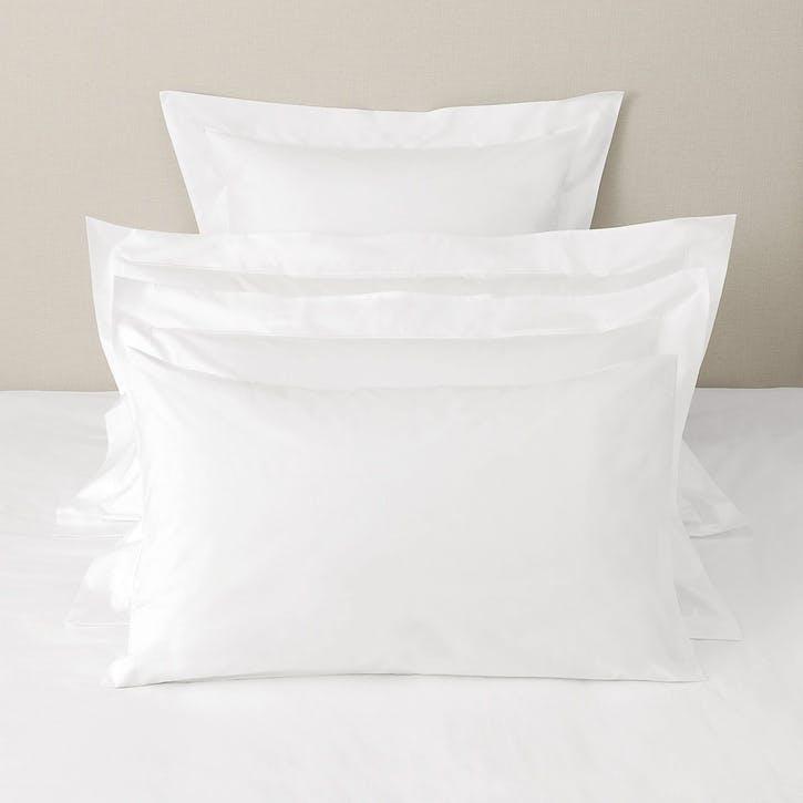 Savoy Housewife Pillowcase, Superking, White