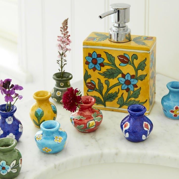 Jaipur Mini Hand painted Vases, Set of 8
