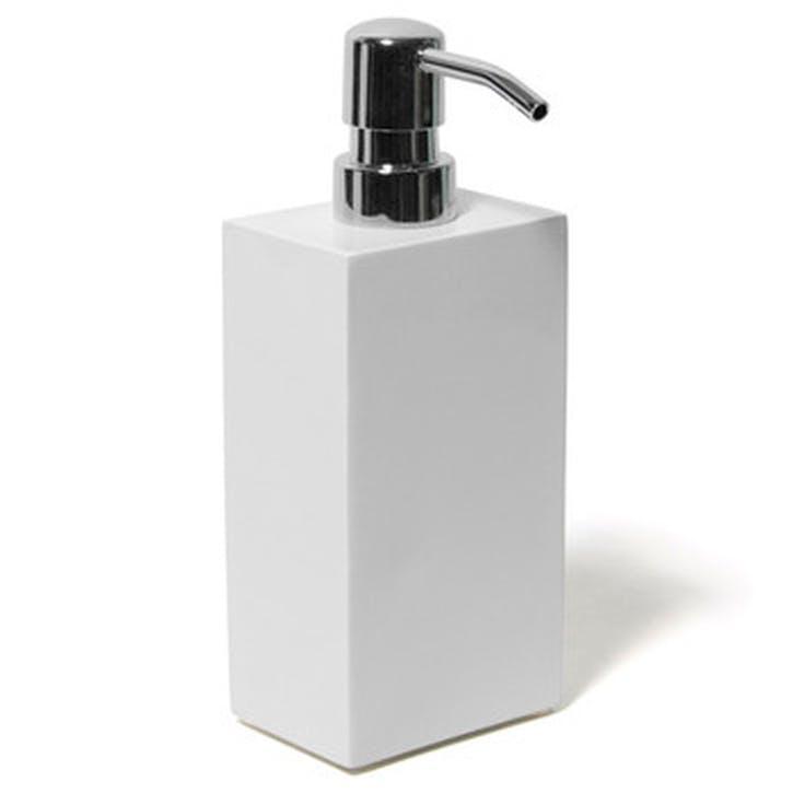 Lacquer Soap Dispenser, White