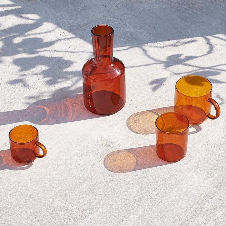 Lagom Carafe & Glass Set, Dark Amber