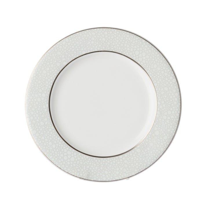 Effervesce Flat Rim Plate, Pearl, 27cm