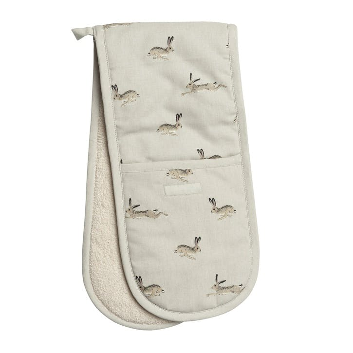 'Hare' Double Oven Gloves