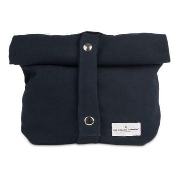 Canvas Lunch Bag, L30 x W39cm, Dark Blue