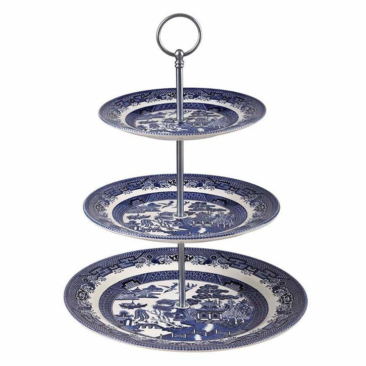 Blue Willow 3-Tier Cake Stand